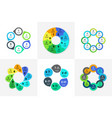 circle infographic chart diagram process vector image vector image