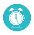 circle light blue with antique alarm clock vector image vector image