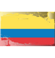 colombia national flag vector image vector image
