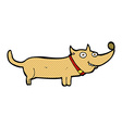 comic cartoon happy dog vector image vector image