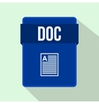 DOC file icon flat style vector image