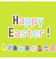 Easter colorful green greeting card vector image vector image