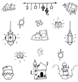 Eid Mubarak funny doodle art vector image vector image