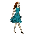 Fashion of walking woman vector image vector image