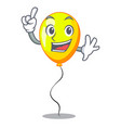 finger yellow balloon isolated on for mascot vector image
