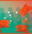 fishing fish cartoon vector image vector image