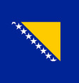flag of bosnia and herzegovina official colors and vector image