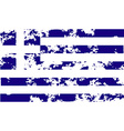 Flag of Greece with old texture vector image