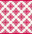 floral seamless pattern red and beige abstract vector image vector image