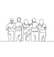friendship concept single continuous line drawing vector image