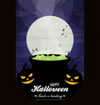 halloween background flat design vector image vector image