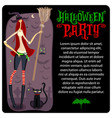 halloween witch template series vector image