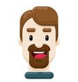 happy man with dark goatee flat icon vector image