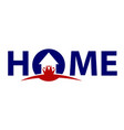 home investment logo design template vector image vector image