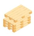 Isometric wooden pallet vector image