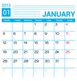 January 2015 calendar template