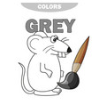 learn the color gray - things that are gray color vector image