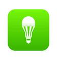 led bulb icon digital green vector image