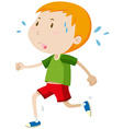Little boy running alone vector image vector image