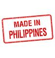 made in Philippines red square isolated stamp vector image vector image