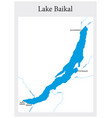 map russian lake baikal vector image vector image