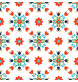 modern scandi daisy floral seamless pattern vector image vector image