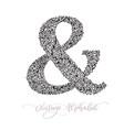 monoline sign - ampersand vintage logo vector image