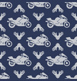 moto sport seamless pattern with motocycle vector image vector image