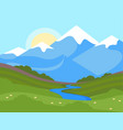 mountain nature landscape flat vector image vector image