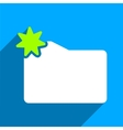 New Folder Flat Square Icon with Long Shadow vector image vector image