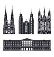 northern europe european buildings on white vector image vector image