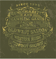 Old west style poster vector image vector image
