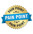 pain point round isolated gold badge vector image vector image