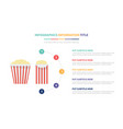 popcorn movie infographic template concept with vector image vector image