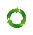 recycle arrow symbol means using recycled vector image