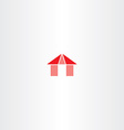 red house icon element sign vector image vector image
