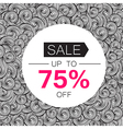 Sale 75 Sale coupon design template Abstract hand vector image vector image