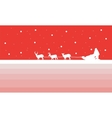 Santa with train deer of silhouettes vector image