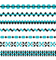 set of geometric borders in two colors vector image vector image