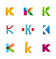Set of letter K logo icons design template vector image