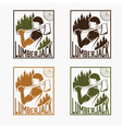 Set of vintage lumberjack labels vector image