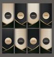 set packaging templates black golden labels vector image vector image