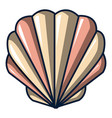 shell icon cartoon style vector image vector image