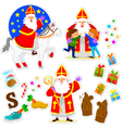 Sinterklaas collection vector image