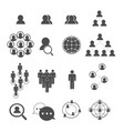 social network icons set vector image
