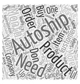 The Myth Of AutoShip text background wordcloud vector image vector image