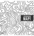 topographic map pattern seamless background vector image