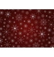 Traditional Christmas snowflakes background vector image vector image