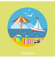 Traveling and Planning a Summer Vacation vector image