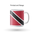Trinidad and Tobago flag souvenir mug on white vector image vector image